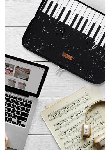 Hamur Easy Case 15 inç Laptop Çantası Notebook Kılıfı Piano New Siyah